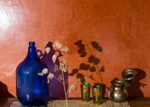 Estuco de arcilla color siena